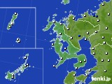 長崎県のアメダス実況(風向・風速)(2016年08月04日)