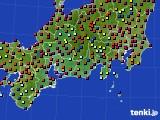 東海地方のアメダス実況(日照時間)(2016年08月05日)
