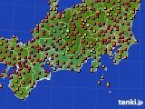 東海地方のアメダス実況(気温)(2016年08月05日)