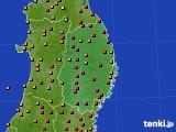 2016年08月05日の岩手県のアメダス(気温)