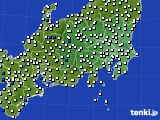関東・甲信地方のアメダス実況(風向・風速)(2016年08月06日)