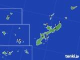 沖縄県のアメダス実況(降水量)(2016年08月07日)