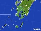 鹿児島県のアメダス実況(風向・風速)(2016年08月07日)