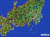 関東・甲信地方のアメダス実況(日照時間)(2016年08月08日)