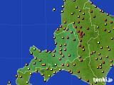 2016年08月08日の道央のアメダス(気温)