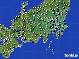 関東・甲信地方のアメダス実況(風向・風速)(2016年08月08日)