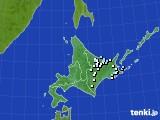 北海道地方のアメダス実況(降水量)(2016年08月09日)