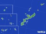 沖縄県のアメダス実況(降水量)(2016年08月09日)
