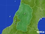 山形県のアメダス実況(降水量)(2016年08月09日)