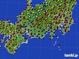 東海地方のアメダス実況(日照時間)(2016年08月09日)