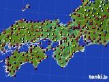近畿地方のアメダス実況(日照時間)(2016年08月09日)