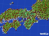 近畿地方のアメダス実況(気温)(2016年08月09日)