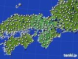 2016年08月09日の近畿地方のアメダス(風向・風速)