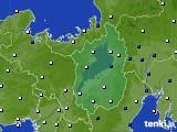 滋賀県のアメダス実況(風向・風速)(2016年08月09日)