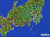 関東・甲信地方のアメダス実況(日照時間)(2016年08月10日)