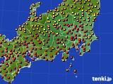 関東・甲信地方のアメダス実況(気温)(2016年08月10日)