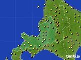 2016年08月10日の道央のアメダス(気温)