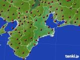 三重県のアメダス実況(気温)(2016年08月10日)