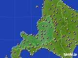 2016年08月11日の道央のアメダス(気温)