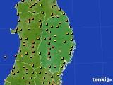2016年08月11日の岩手県のアメダス(気温)
