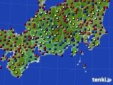 東海地方のアメダス実況(日照時間)(2016年08月12日)
