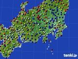 関東・甲信地方のアメダス実況(日照時間)(2016年08月14日)