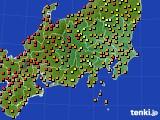 関東・甲信地方のアメダス実況(気温)(2016年08月14日)