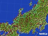 北陸地方のアメダス実況(気温)(2016年08月14日)