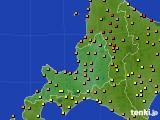 2016年08月14日の道央のアメダス(気温)