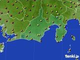 静岡県のアメダス実況(気温)(2016年08月14日)