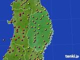 2016年08月14日の岩手県のアメダス(気温)