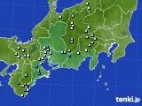 2016年08月15日の東海地方のアメダス(降水量)