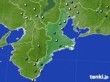 三重県のアメダス実況(降水量)(2016年08月15日)