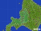2016年08月15日の道央のアメダス(気温)