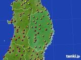 2016年08月16日の岩手県のアメダス(気温)