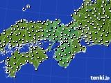 2016年08月16日の近畿地方のアメダス(風向・風速)