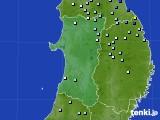 2016年08月17日の秋田県のアメダス(降水量)