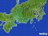 2016年08月18日の東海地方のアメダス(降水量)