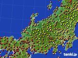 北陸地方のアメダス実況(気温)(2016年08月18日)