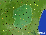 2016年08月18日の栃木県のアメダス(気温)