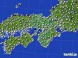 2016年08月18日の近畿地方のアメダス(風向・風速)