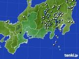 2016年08月20日の東海地方のアメダス(降水量)