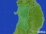 2016年08月20日の秋田県のアメダス(降水量)