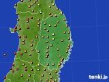 2016年08月20日の岩手県のアメダス(気温)