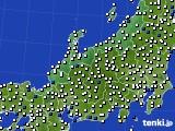 北陸地方のアメダス実況(風向・風速)(2016年08月20日)