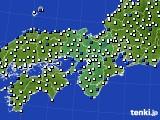 2016年08月20日の近畿地方のアメダス(風向・風速)