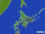 北海道地方のアメダス実況(降水量)(2016年08月21日)