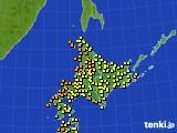 アメダス実況(気温)(2016年08月21日)