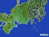 2016年08月22日の東海地方のアメダス(降水量)