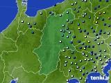 2016年08月22日の長野県のアメダス(降水量)